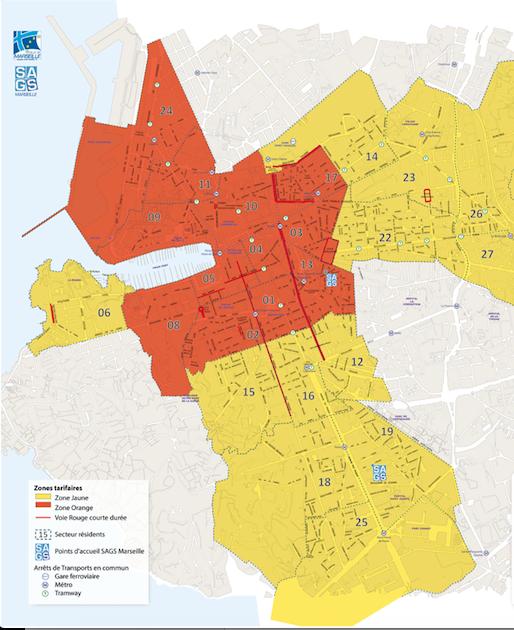 plan pour se garer dans les rues de Lyon